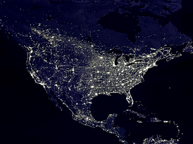 United-States-Lights-At-Night