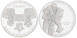 Medal of Honor US Proof Silver Dollar