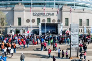 American Cancer Society Walk and Roll Chicago 2017 at Soldier Field