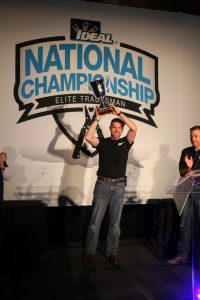 Greg Anliker, winner of IDEAL National Championship, with trophy