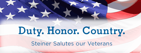 Duty. Honor. Country. Steiner Salutes our Veterans