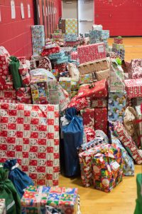 Steiner and other companies held toy drives to collect presents for the holiday party.