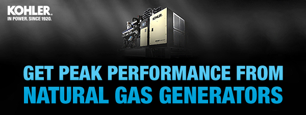 Get peak performance from natural gas generators